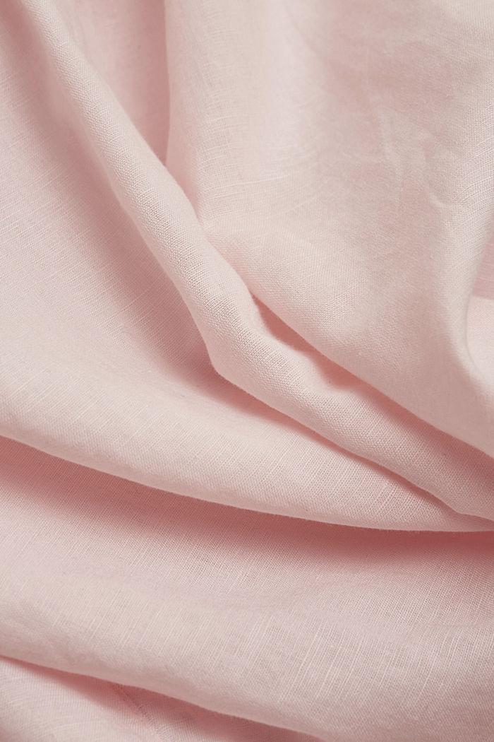 Linen blend: shirt blouse, LIGHT PINK, detail image number 4
