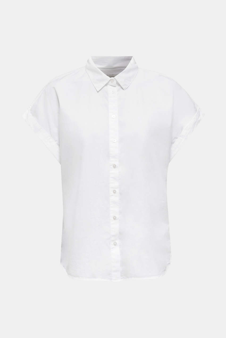 Wide-sleeve blouse, 100% organic cotton, WHITE, detail image number 7