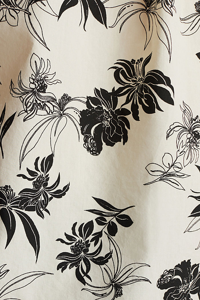 Blusa stampata in 100% cotone biologico, OFF WHITE, detail image number 4