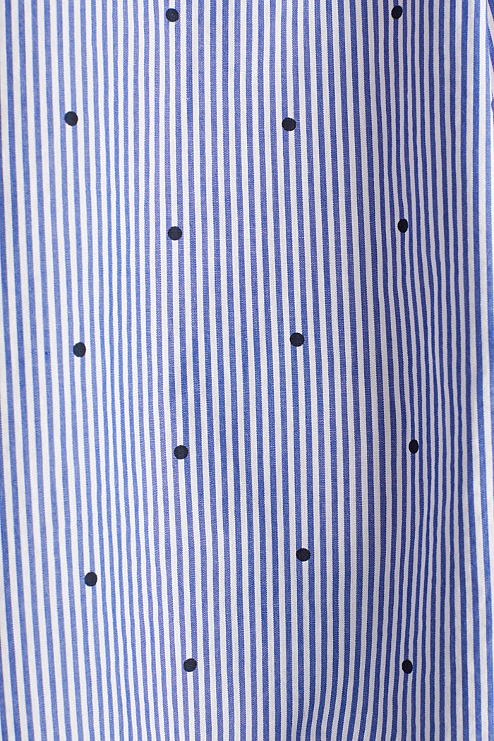 Mixed pattern blouse, 100% cotton, NAVY, detail image number 4
