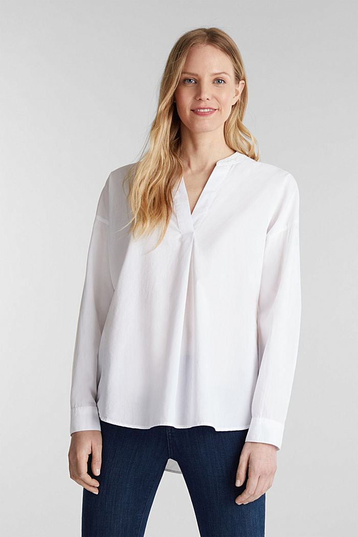 Slip-on blouse made of 100% cotton