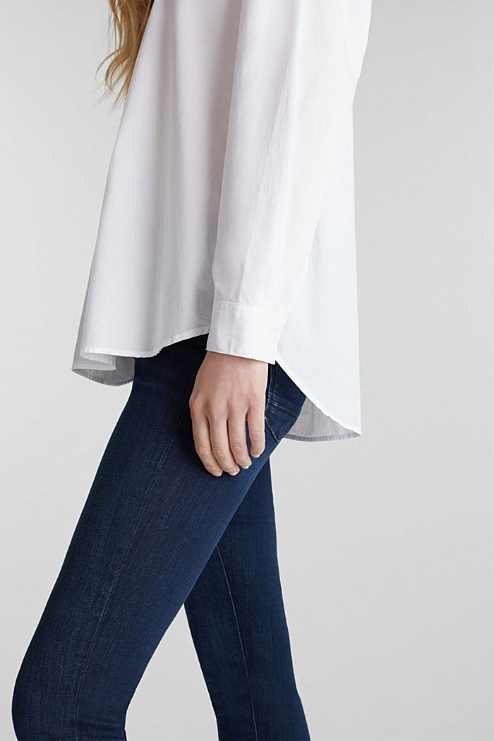 Slip-on blouse made of 100% cotton, WHITE, detail image number 2