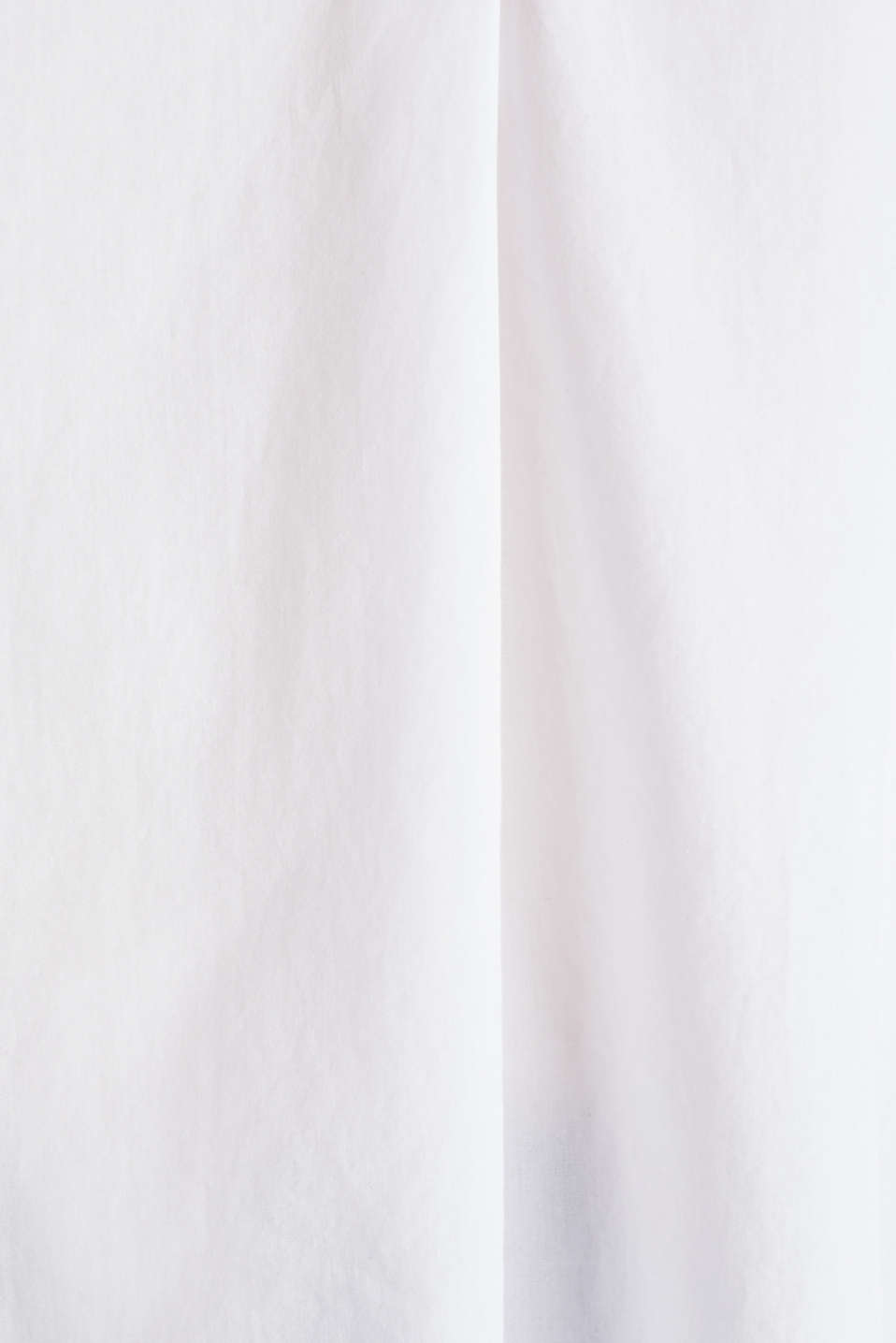 Slip-on blouse made of 100% cotton, WHITE, detail image number 4
