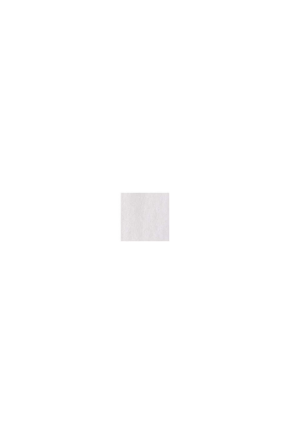 Blusa cerrada en 100% algodón, WHITE, swatch