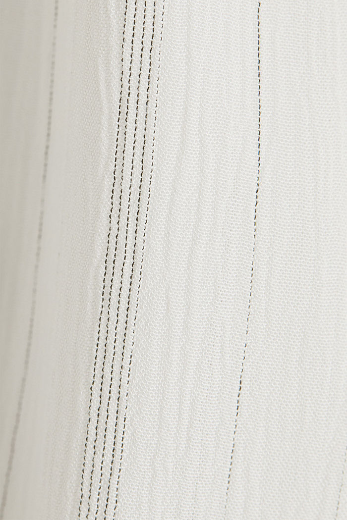 Blouse with a stretchy neckline, OFF WHITE, detail image number 4