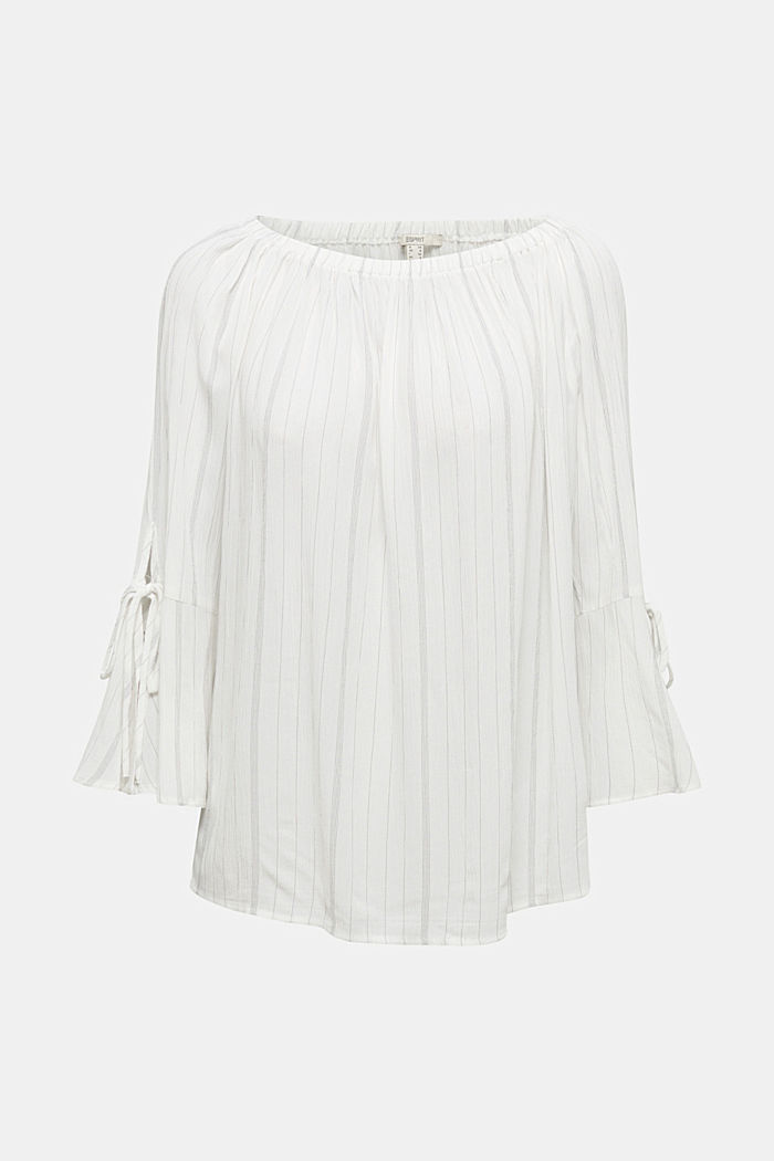 Blouse met elastische hals, OFF WHITE, detail image number 7