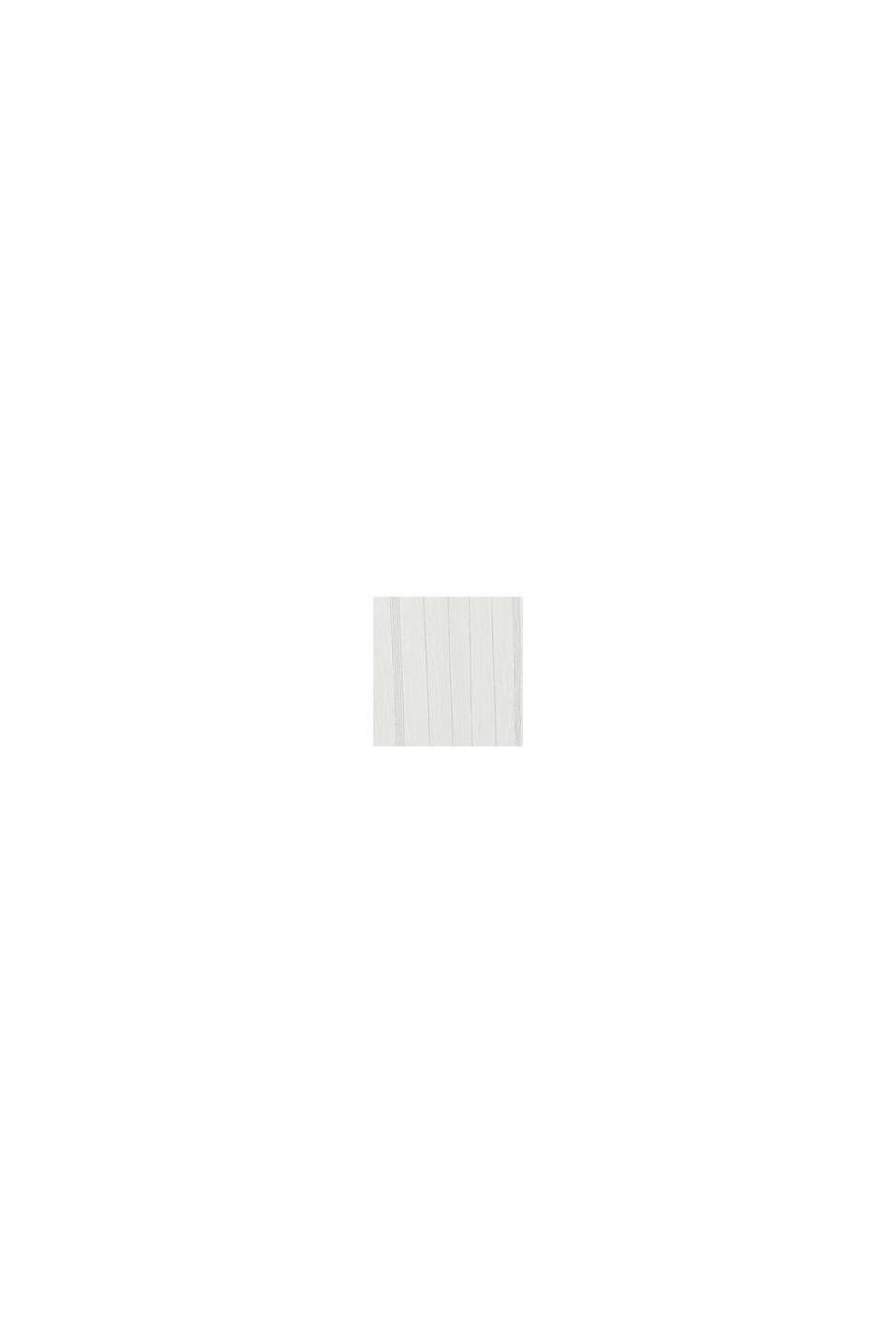 Bluse med elastisk udskæring, OFF WHITE, swatch