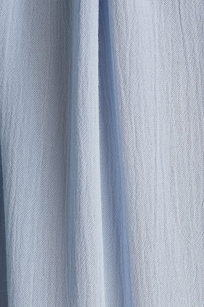 Blouse with a stretchy neckline, LIGHT BLUE, detail image number 4