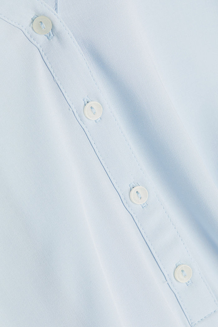 Henley blouse made of LENZING™ ECOVERO™, LIGHT BLUE, detail image number 4