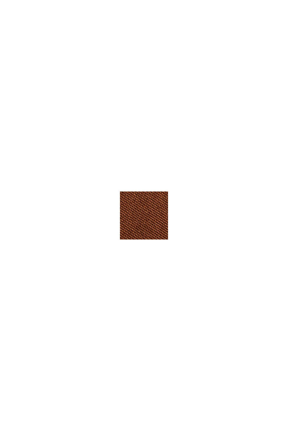 Bluse aus LENZING™ ECOVERO™, TOFFEE, swatch