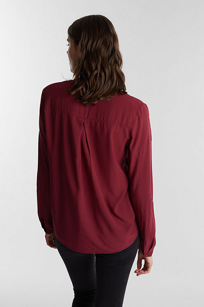 Blouse made from LENZING™ ECOVERO™, BORDEAUX RED, detail image number 3