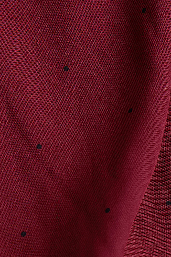Blouse made from LENZING™ ECOVERO™, BORDEAUX RED, detail image number 4
