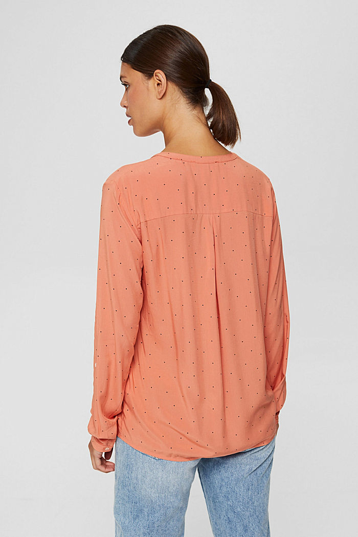 Camicetta henley a pois in LENZING™ ECOVERO™, BLUSH, detail image number 3