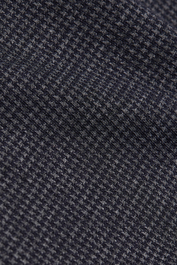 Longsleeve mit Hahnentritt-Muster, GREY BLUE, detail image number 4