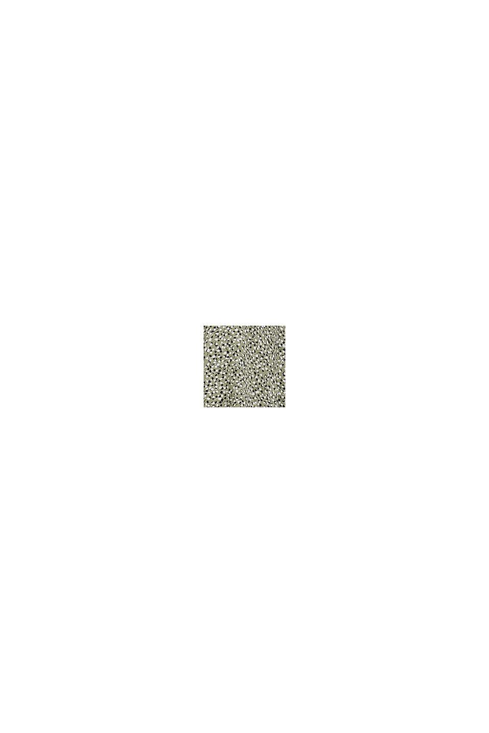Blouse met luipaardprint van LENZING™ ECOVERO™, LIGHT KHAKI, swatch