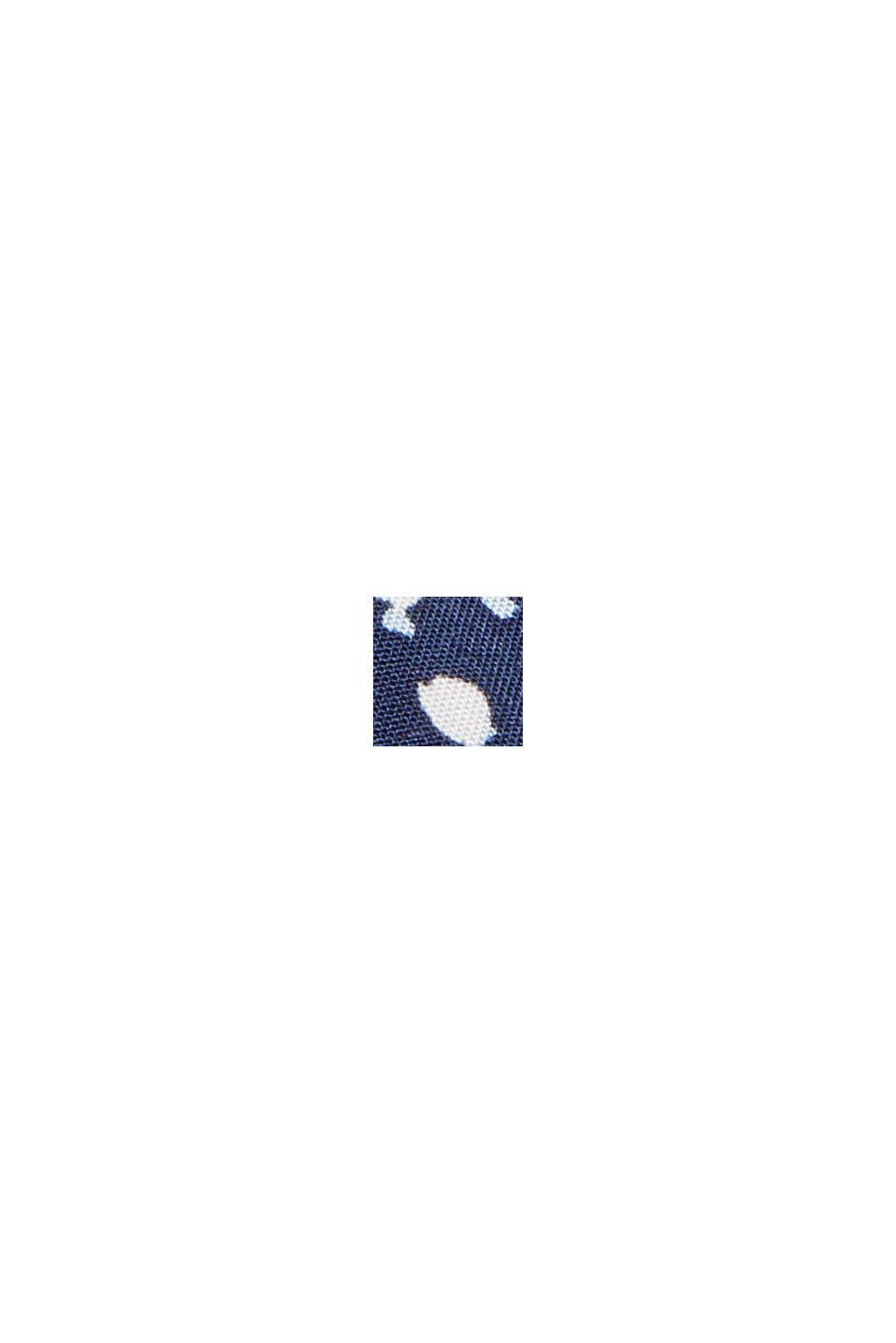 Blouse met luipaardprint van LENZING™ ECOVERO™, NAVY, swatch