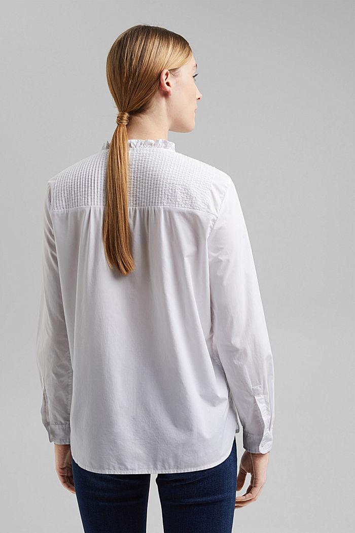Organic cotton blouse, WHITE, detail image number 3