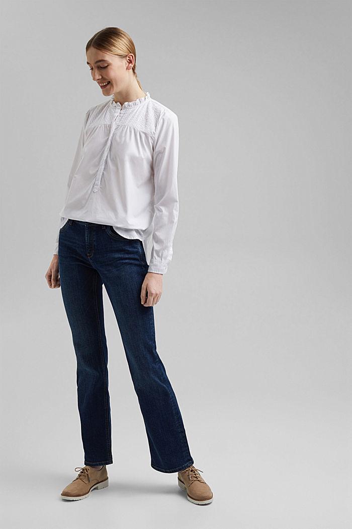 Organic cotton blouse, WHITE, detail image number 6
