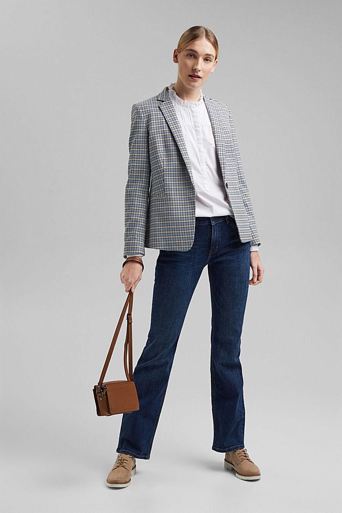 Organic cotton blouse, WHITE, detail image number 1