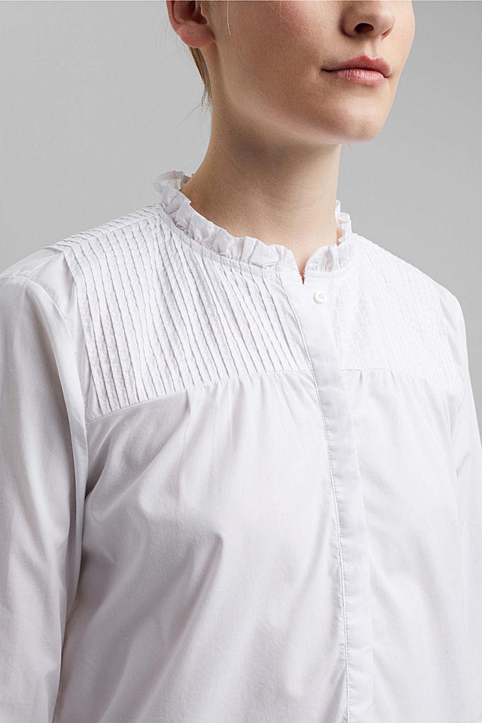 Organic cotton blouse, WHITE, detail image number 2