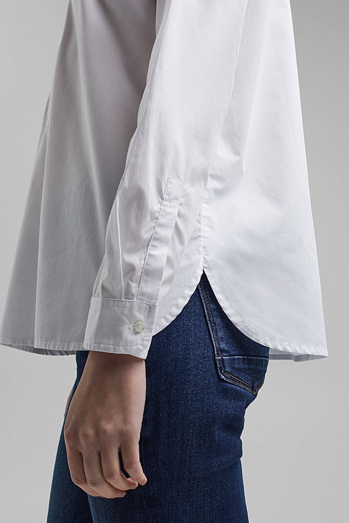 Organic cotton blouse, WHITE, detail image number 5
