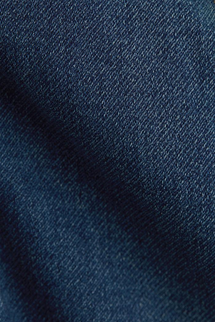 Denim jacket in soft denim tracksuit fabric, BLUE DARK WASHED, detail image number 4