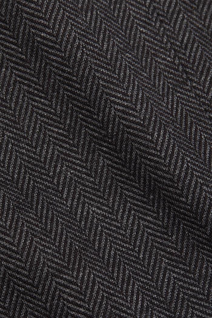 Blazer mit Fischgrat-Muster, ANTHRACITE, detail image number 4