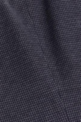 Fitted houndstooth blazer, GREY BLUE, detail