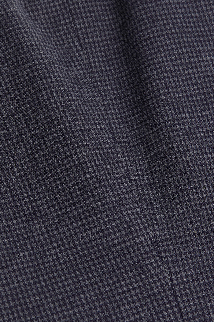 Fitted houndstooth blazer, GREY BLUE, detail image number 4