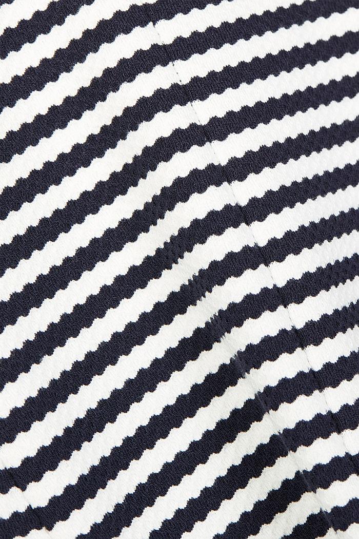 Blazer con textura de algodón ecológico, NAVY, detail image number 4