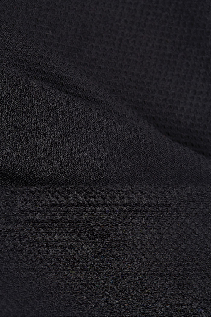 Fitted jersey blazer with texture, BLACK, detail image number 4