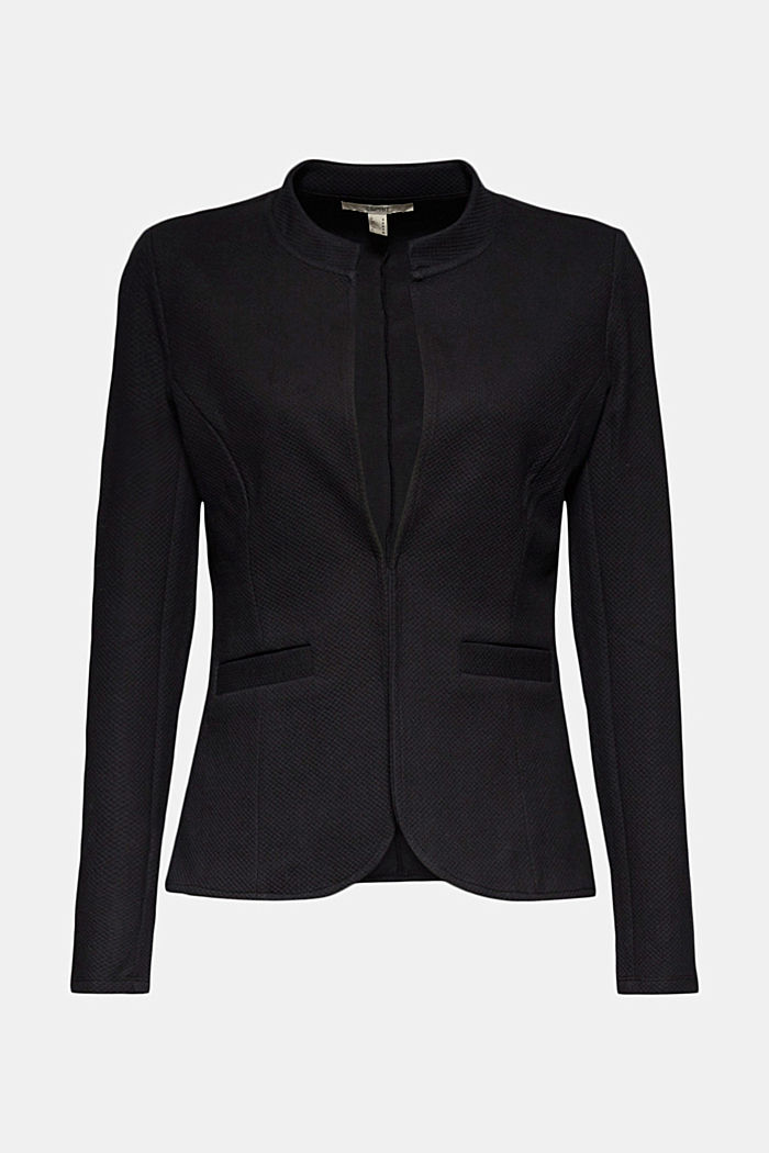 Fitted jersey blazer with texture
