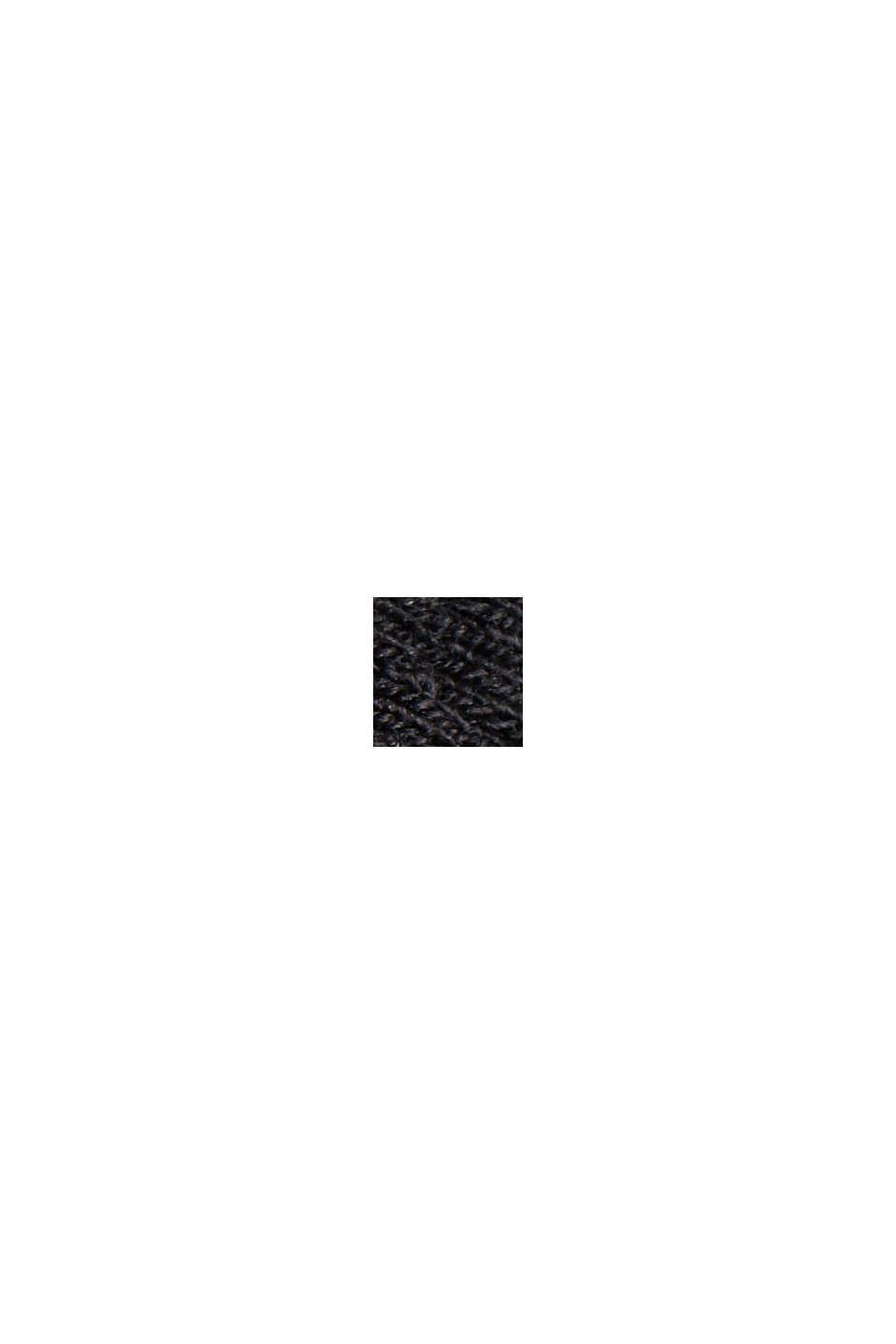 Getailleerde jersey blazer met structuur, BLACK, swatch