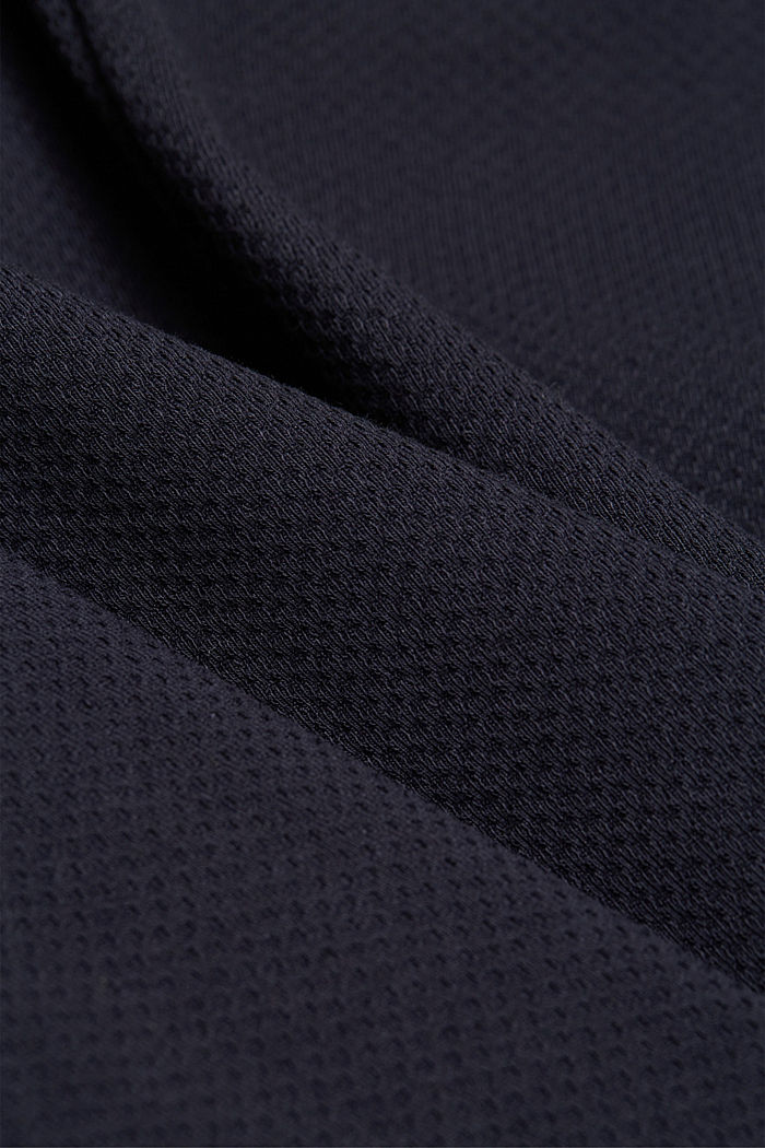Fitted jersey blazer with texture, NAVY, detail image number 4