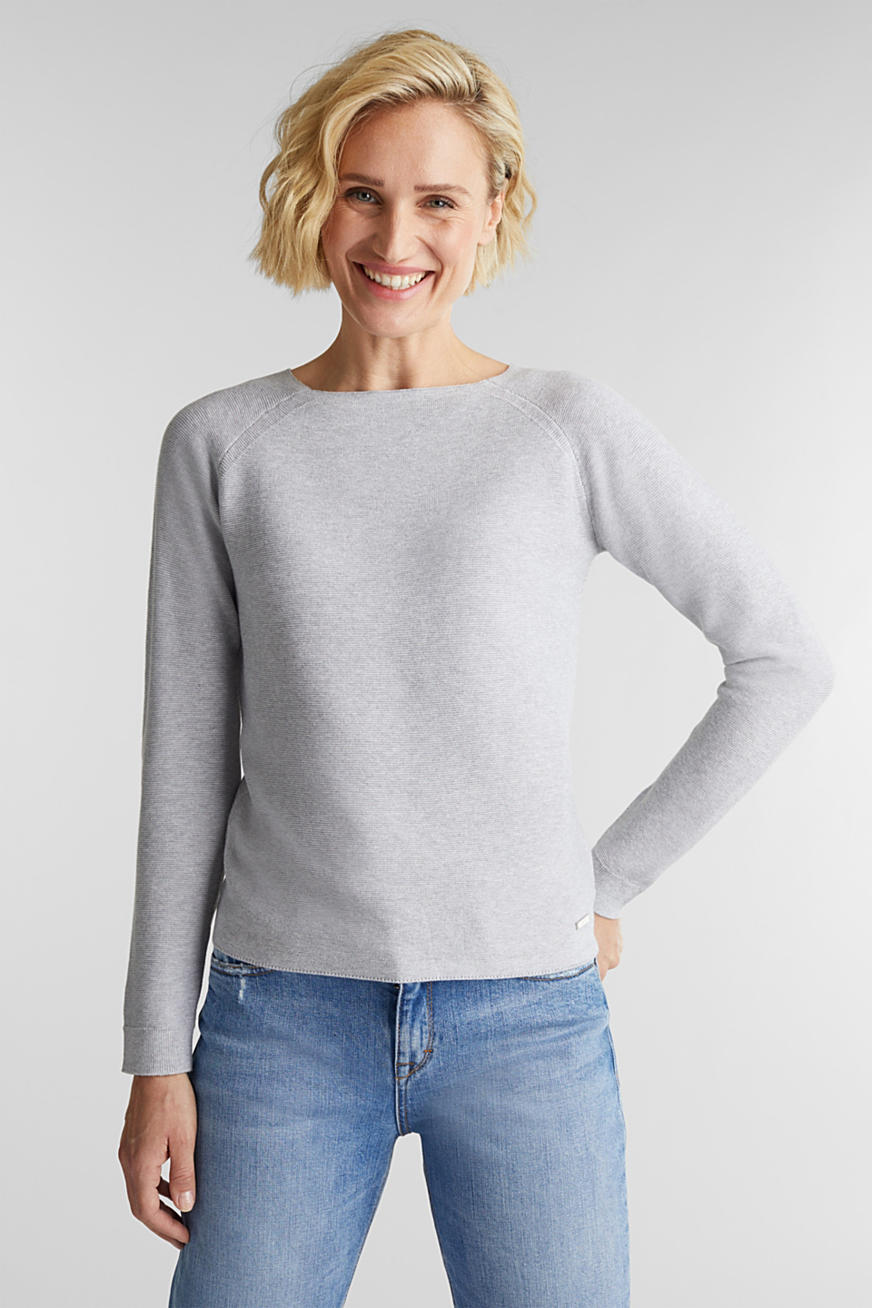Crewneck jumper with 100% organic cotton