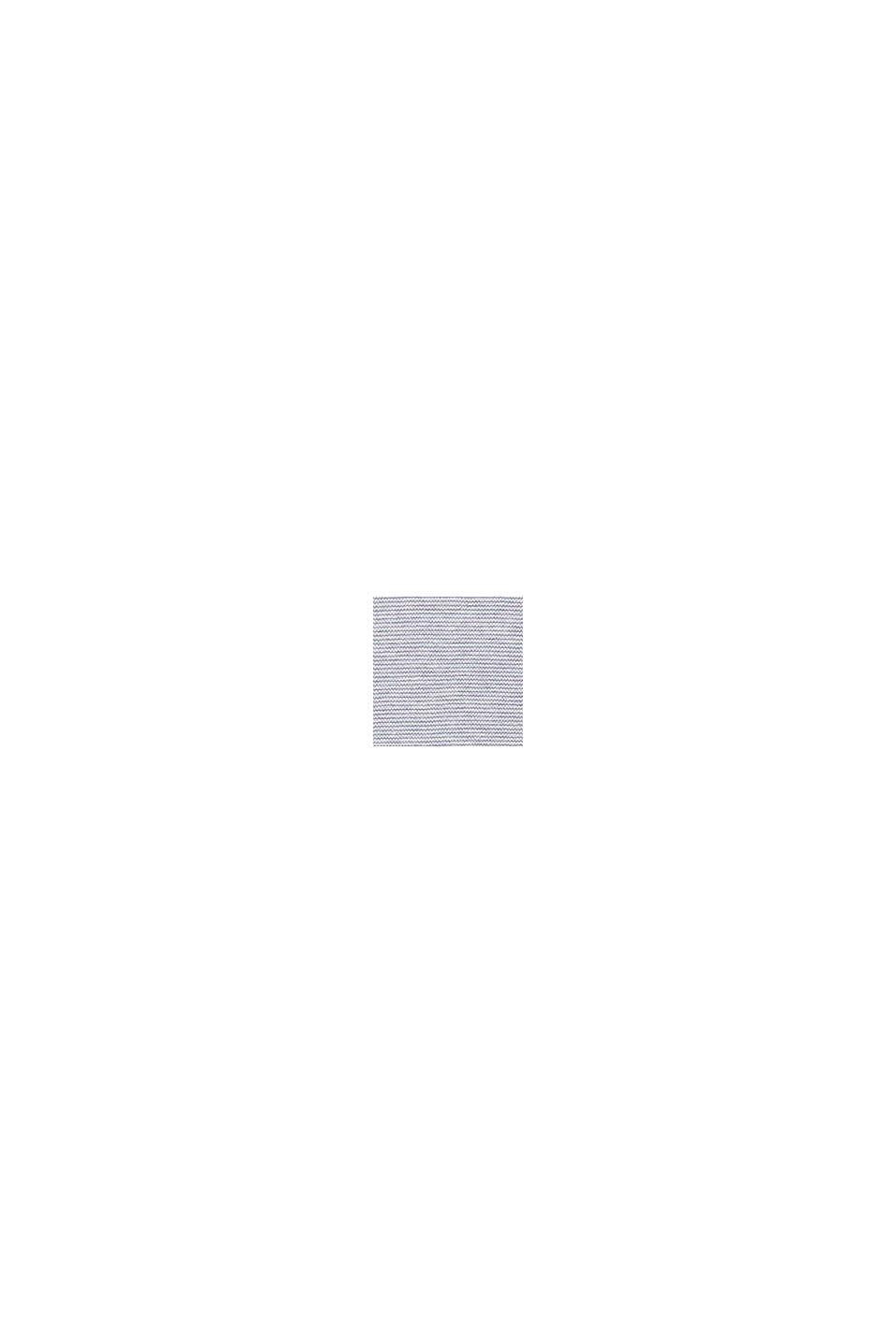 Gestreifter Pullover, 100% Bio-Baumwolle, LIGHT GREY, swatch