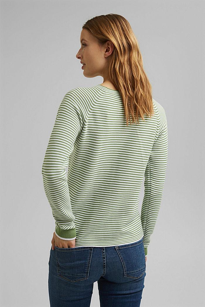 Crewneck jumper with 100% organic cotton, LEAF GREEN, detail image number 3