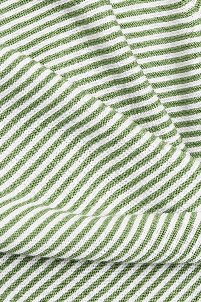 Crewneck jumper with 100% organic cotton, LEAF GREEN, detail image number 4