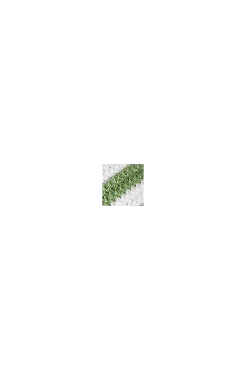 Striped jumper, 100% organic cotton, NEW LEAF GREEN, swatch