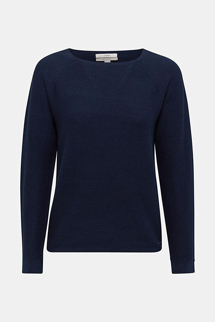 Pull-over rayé, 100% coton biologique, NAVY, detail image number 7