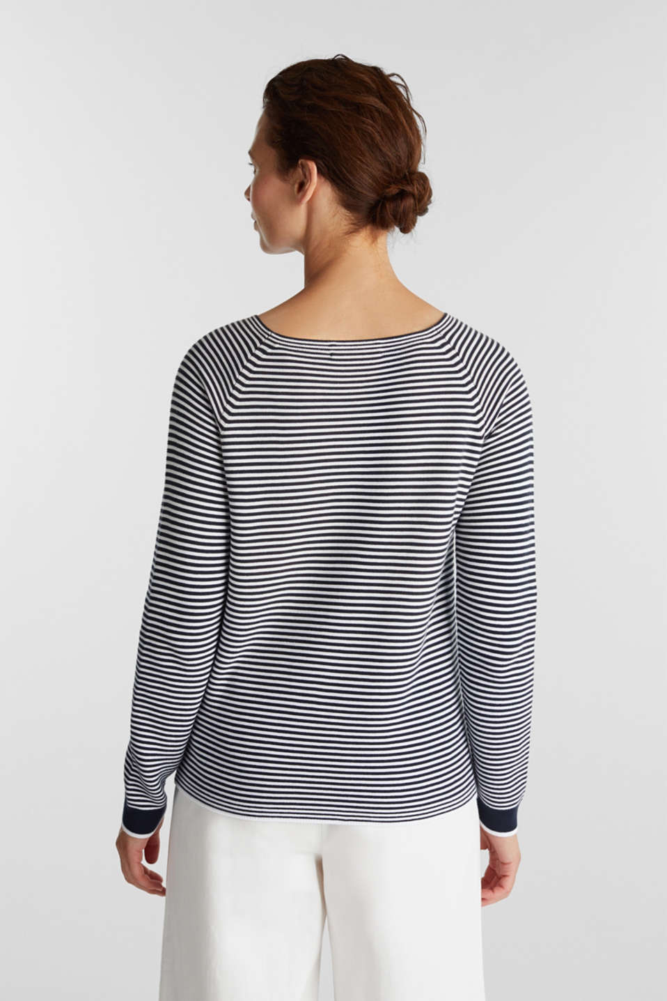 Striped jumper, 100% organic cotton, NAVY 2, detail image number 2