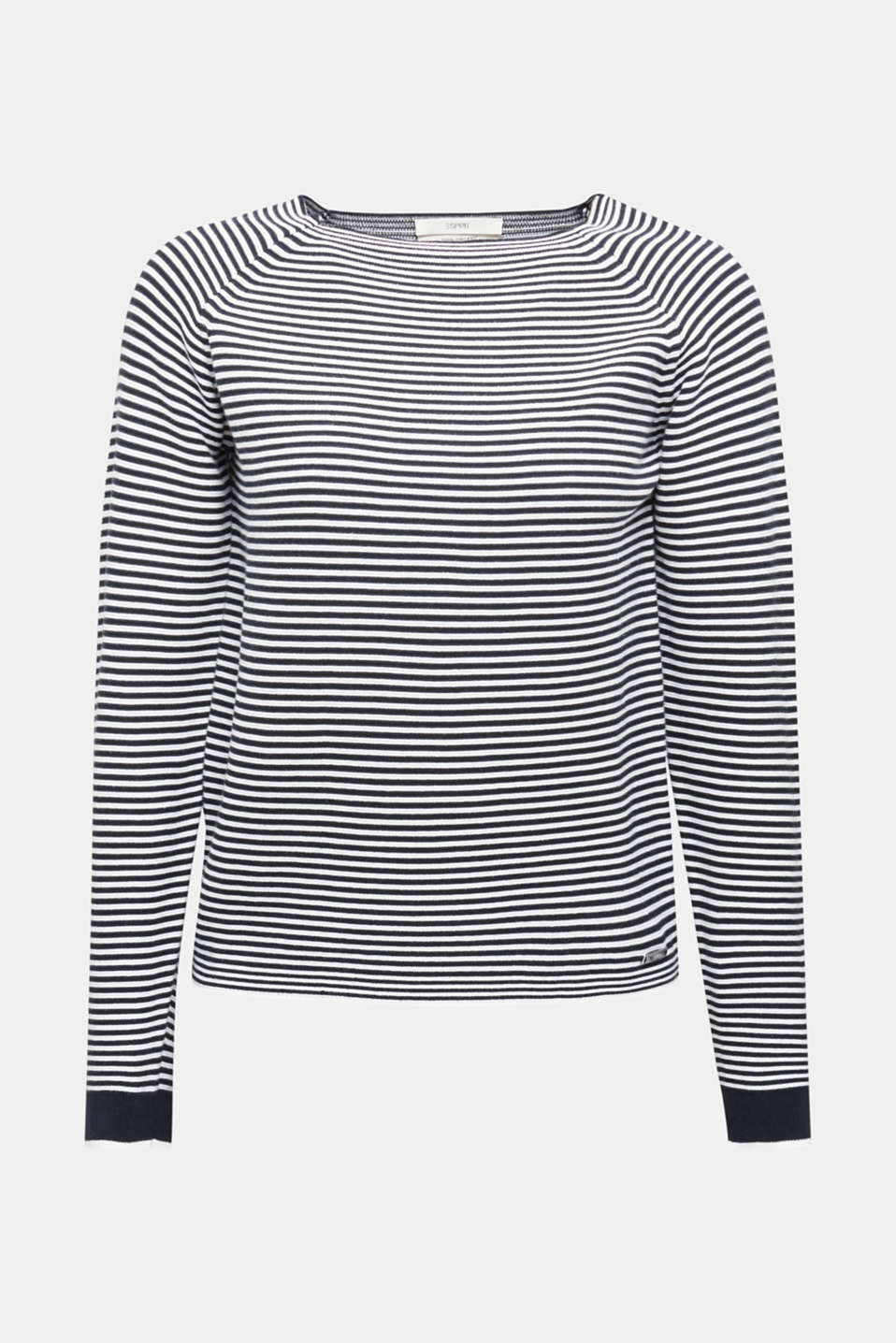 Striped jumper, 100% organic cotton, NAVY 2, detail image number 6