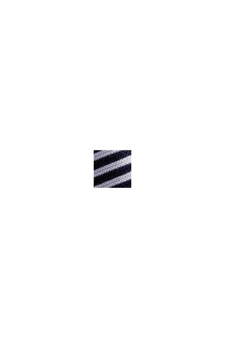 Striped jumper, 100% organic cotton, NAVY BLUE, swatch