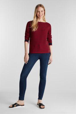 Striped jumper, 100% organic cotton, NAVY 3, detail