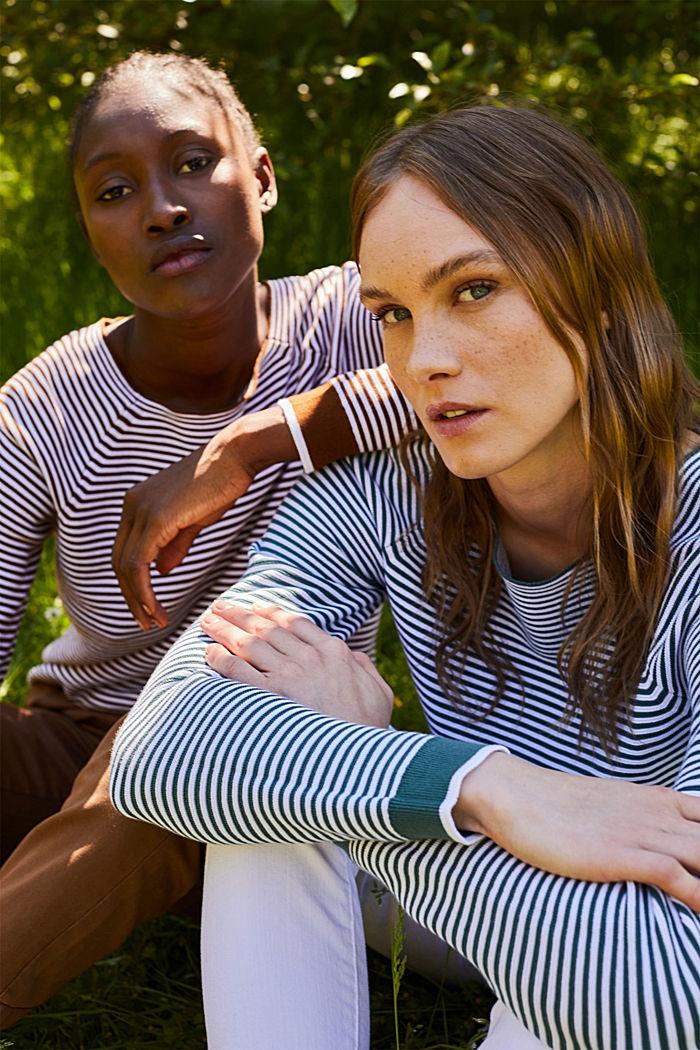 Striped jumper, 100% organic cotton