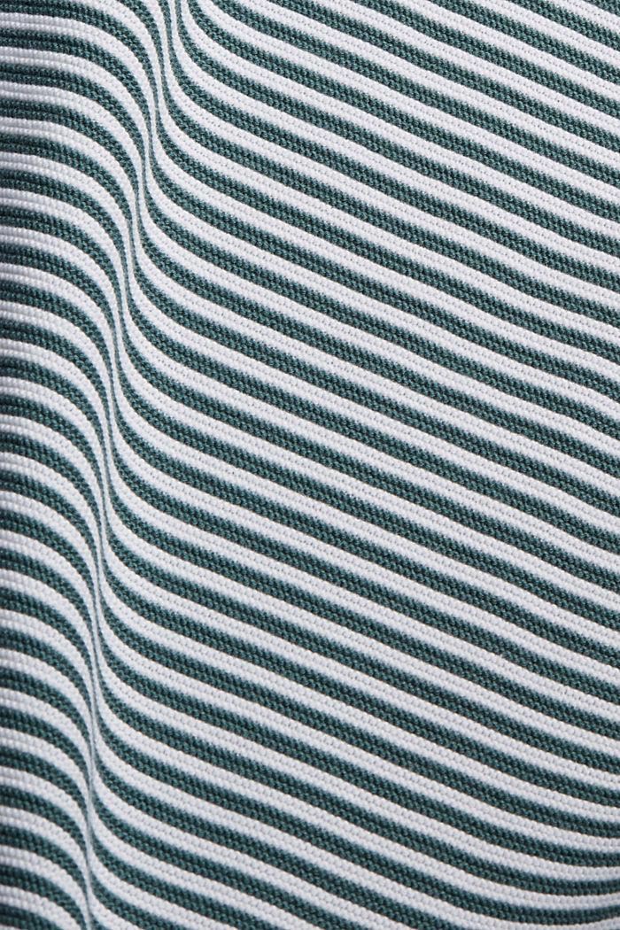 Striped jumper, 100% organic cotton, TEAL BLUE, detail image number 4