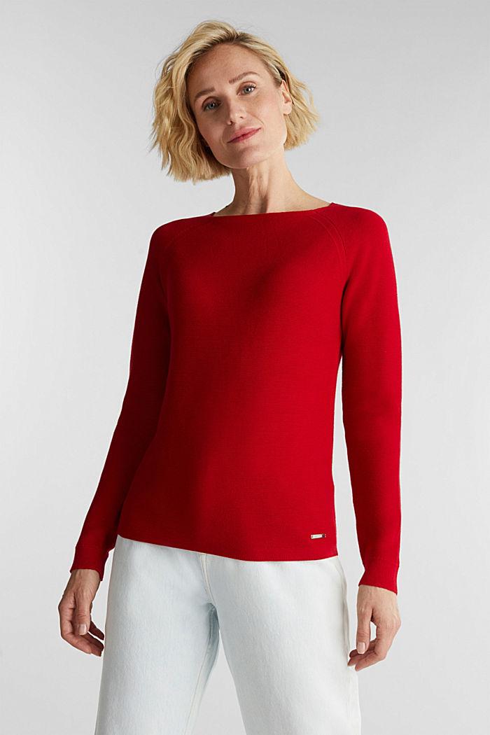 Crewneck jumper with 100% organic cotton