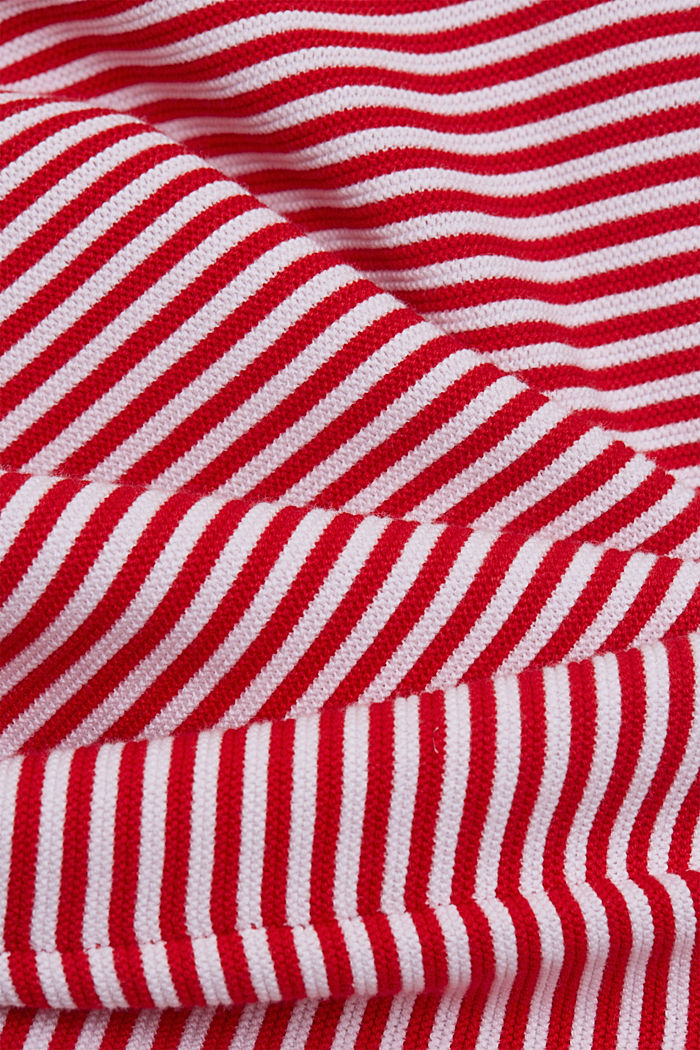 Crewneck jumper with 100% organic cotton, RED, detail image number 4