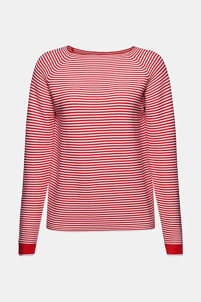 Crewneck jumper with 100% organic cotton, RED, detail image number 5