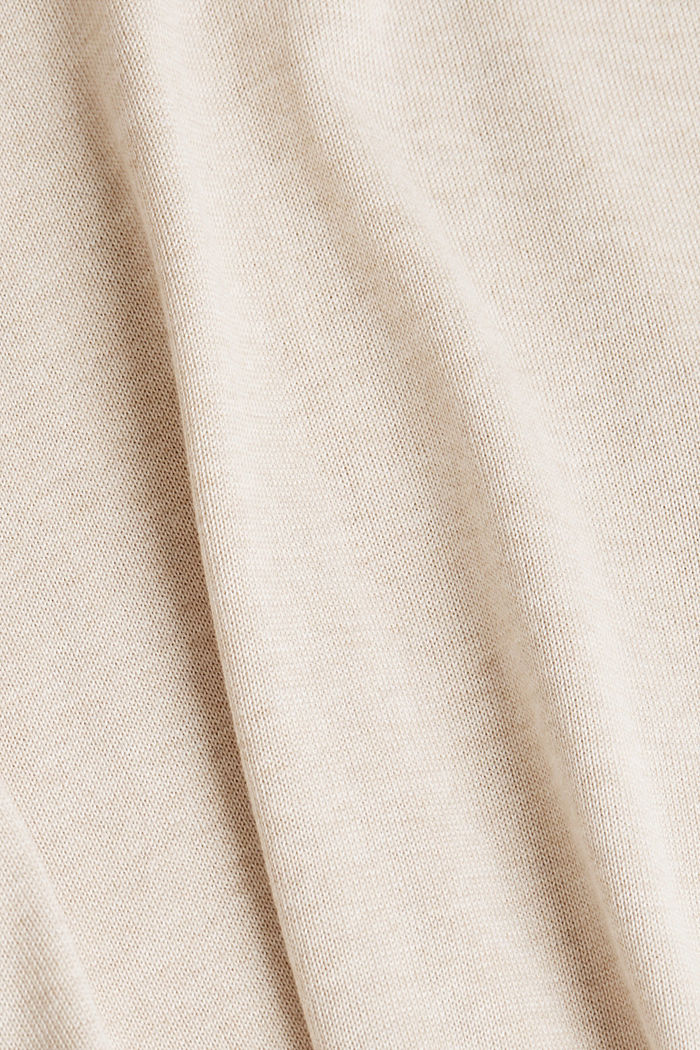 V-neck jumper containing organic cotton, SAND, detail image number 4